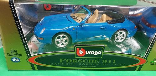 Bburago 1994 Porsche 911 Carrera Cabriolet Diecast Car