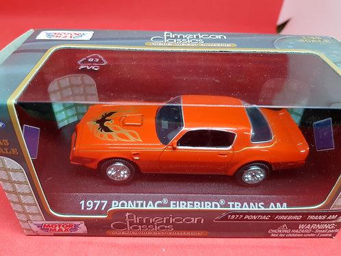 1977 Pontiac Firebird Transam diecast car.