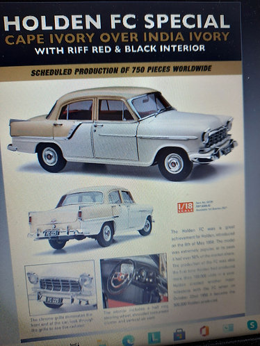 Holden FC Special cape ivory & india ivory