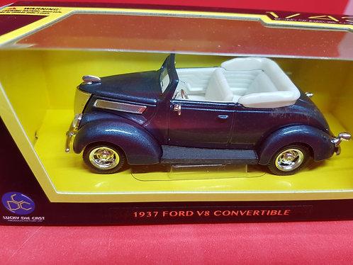 1937 Ford V8 convertible diecast car.