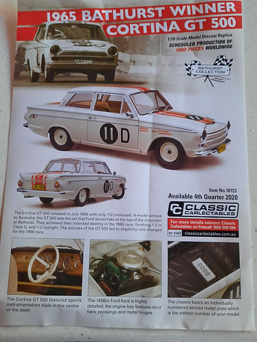 Cortina 1965 Bathurst Winner Seton/Bosworth PREORDER