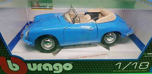 Bburago 1961 Porsche 356B Cabriolet Diecast Car