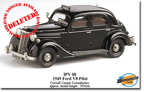 1949 Ford Pilot V8 White metal Diecast