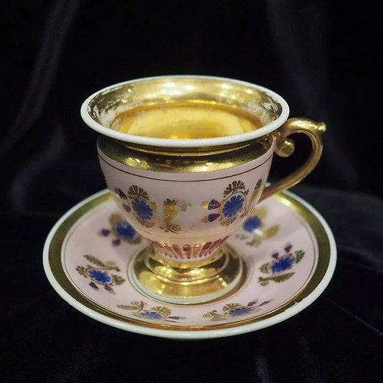Чашка с блюдцем «Синие цветы»