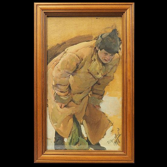 И.Г. Дроздов «Проводы демобилизованного»