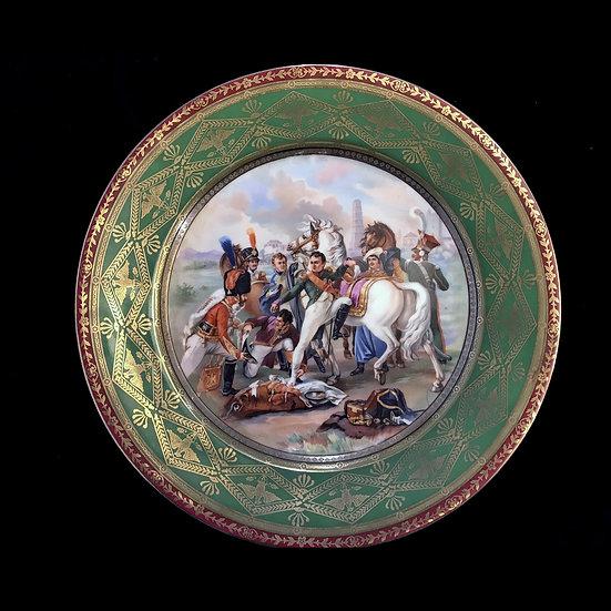 Тарелка настенная «Ранение Наполеона перед битвой у Регенсбурга»