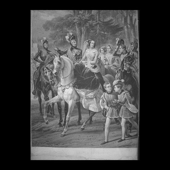 Гравюра «Царскосельская карусель»