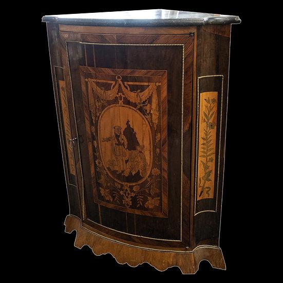 Шкафчик угловой с мраморной столешницей