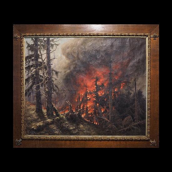 А.К. Денисов-Уральский «Лесной пожар»
