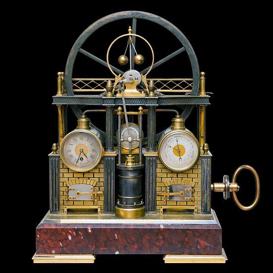 Часы кабинетные «Модель паровой машины Уатта»