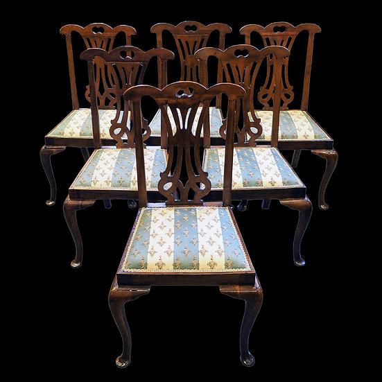 Шесть стульев в стиле чиппендейл