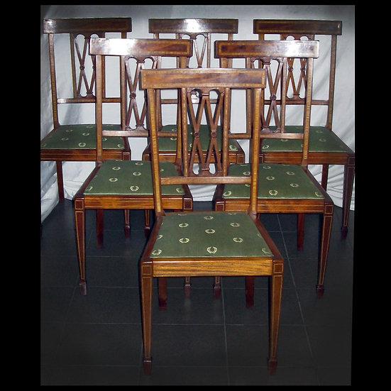 Комплект: шесть стульев, два кресла