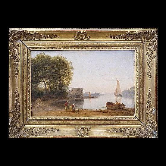 Пейзаж «Лодка на берегу»
