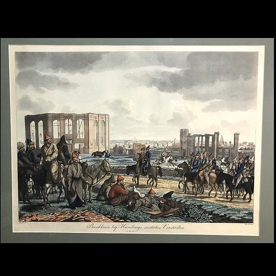 Башкиры в разрушенных предместьях Гамбурга в 1814 году