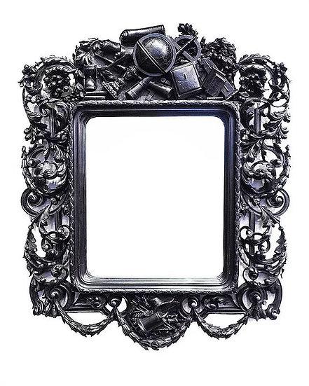 Зеркало настенное в раме Символы наук и ремёсел