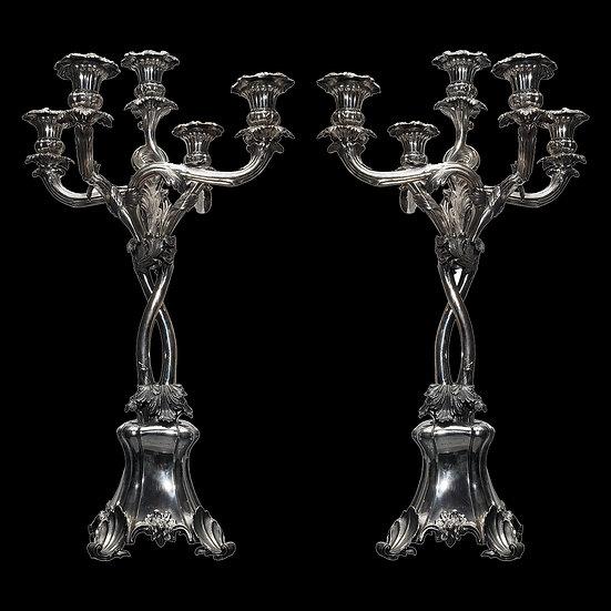 Парные канделябры на 5 свечей