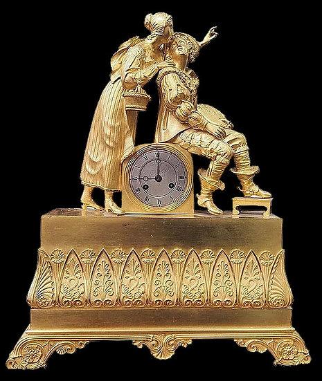 Часы «Галантная сцена. Художник и девушка»