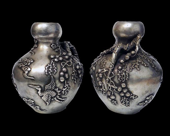 Парные вазы с аистами