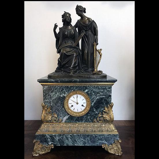 Часы каминные «Две музы»