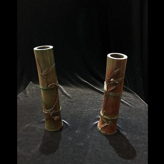 Парные вазы «Улитки на стебле бамбука»