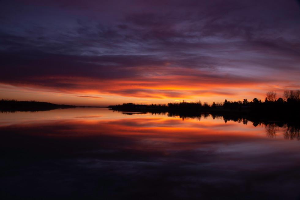 Sunrise over telford Lake
