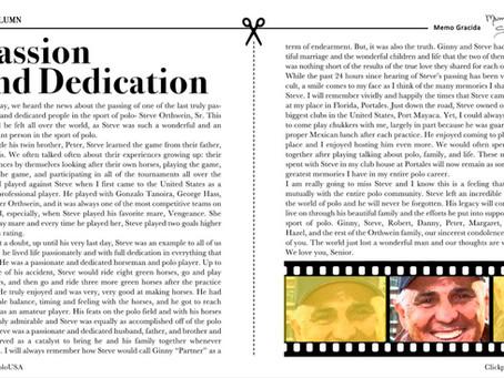 Passion and Dedication