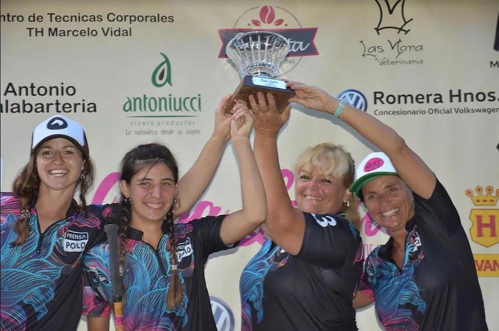 El equipo de Prensa Polo, campeón en Mar del Plata. Foto: Prensa Polo