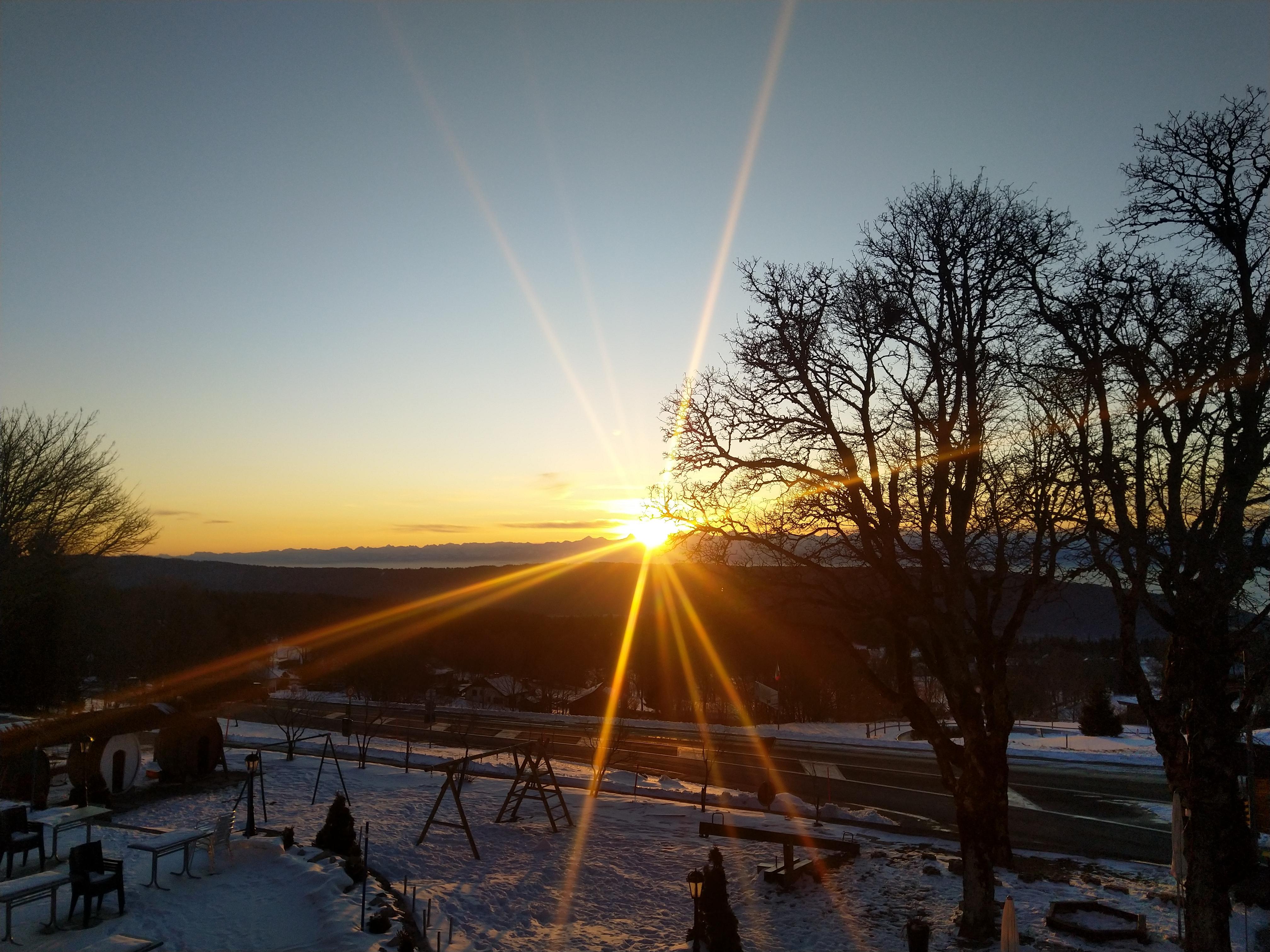 Sonnenaufgang am 2. Tag