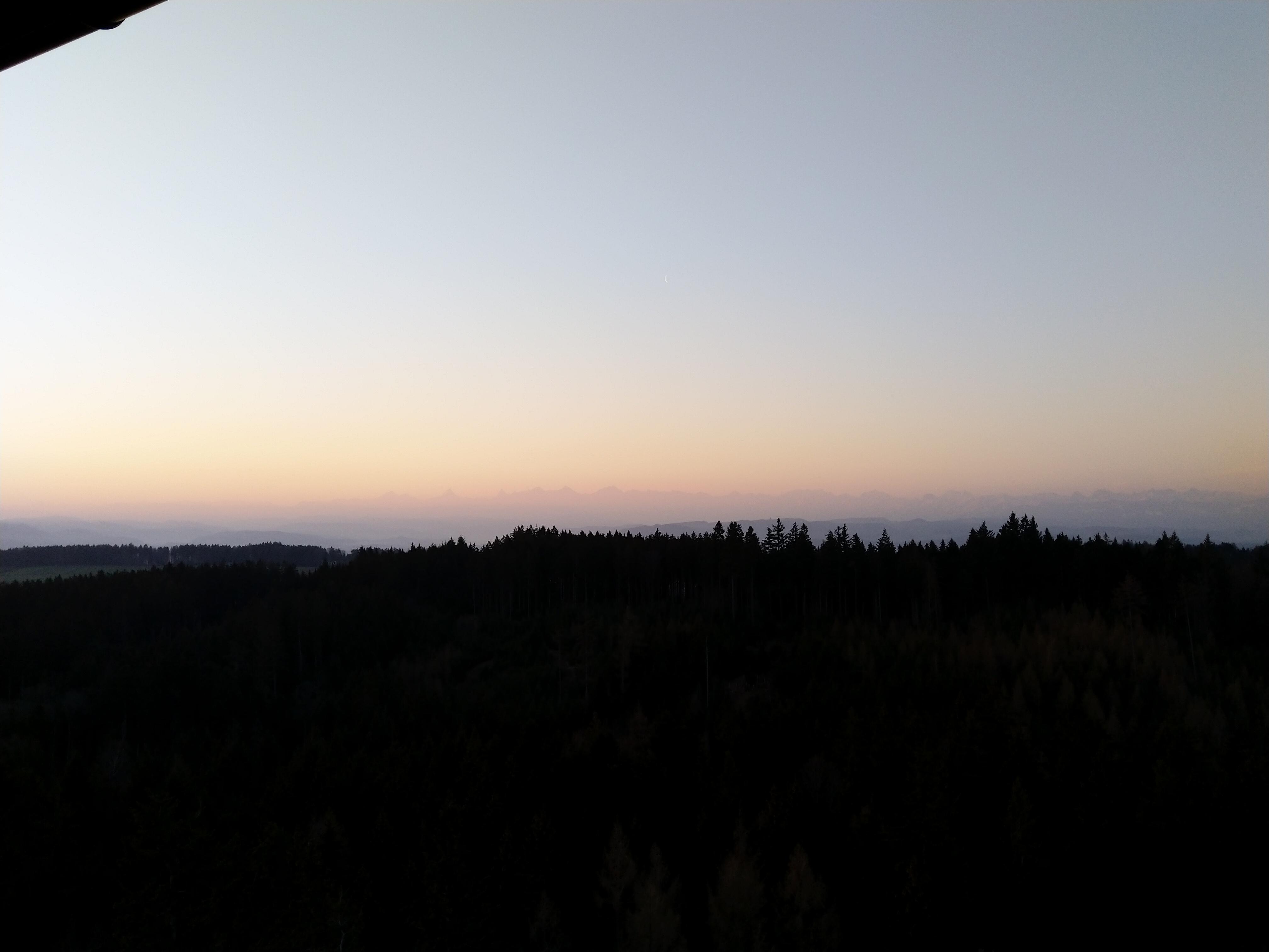 Sonnenaufgang auf dem Chutzenturm