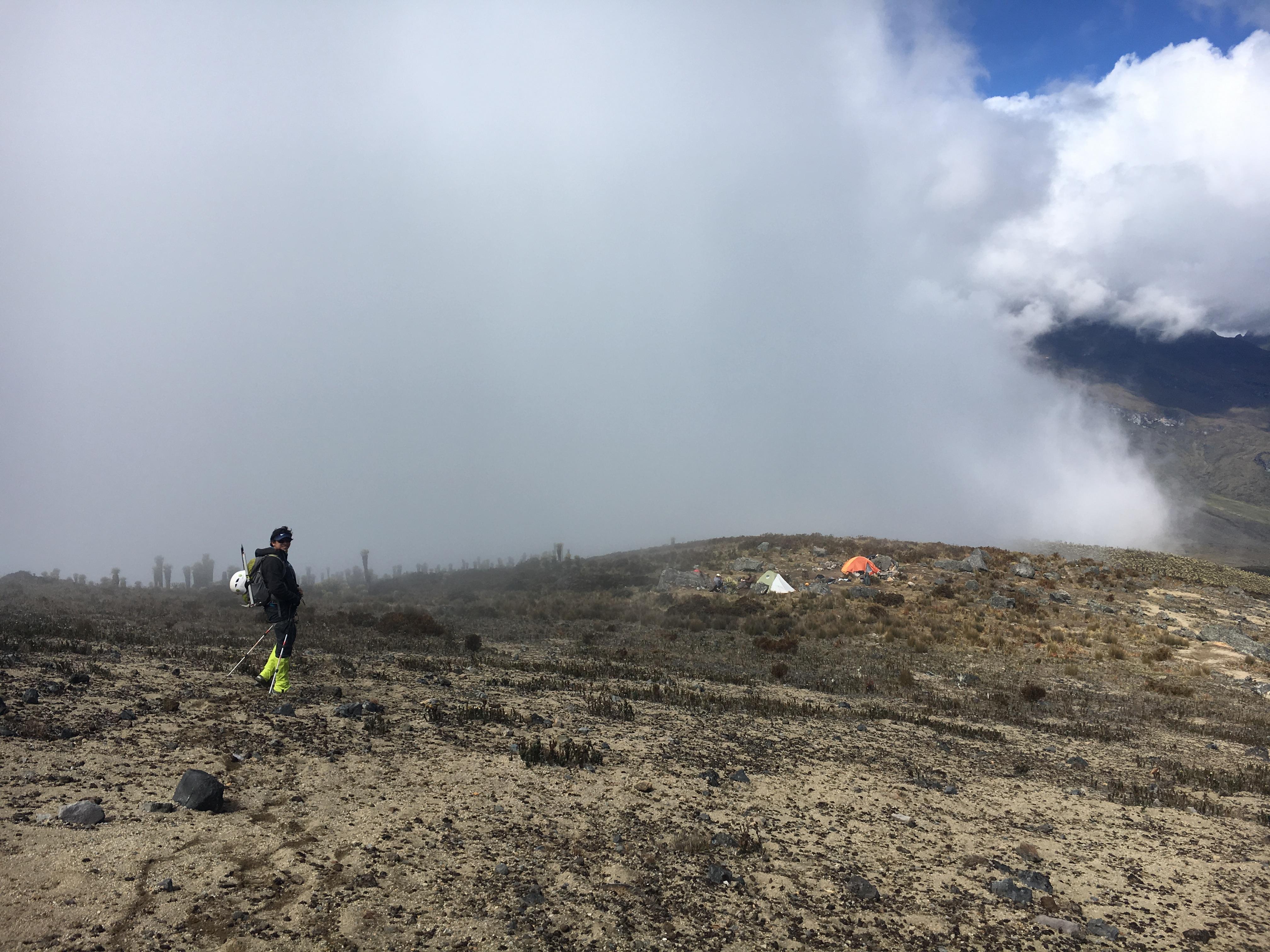 Rückweg vom Nevado Tolima