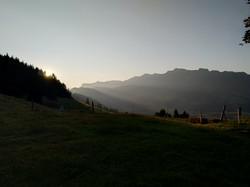 Sonnenaufgang über Schwanden