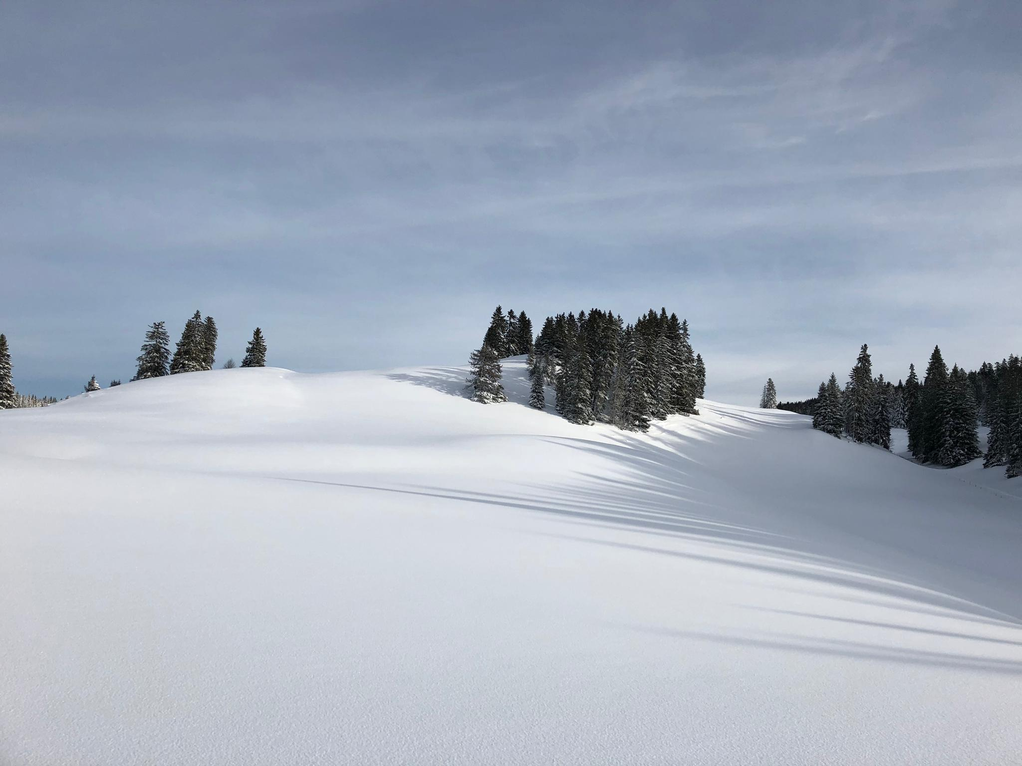 Verschneite Jura-Landschaft