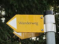Wanderweg Schild