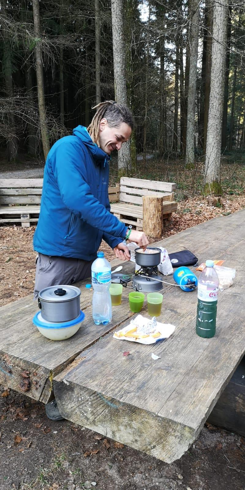 Kochen im Wald