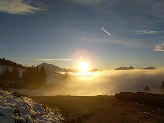 Sonnenuntergang in Schwanden