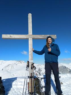 Gipfel Bäderhörn 2009 Meter