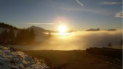 Sonnenuntergang Schwanden