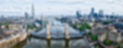 london bridge panorama drone photograph