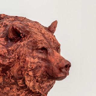 Grizzly Bear Portrait (Ceramics)
