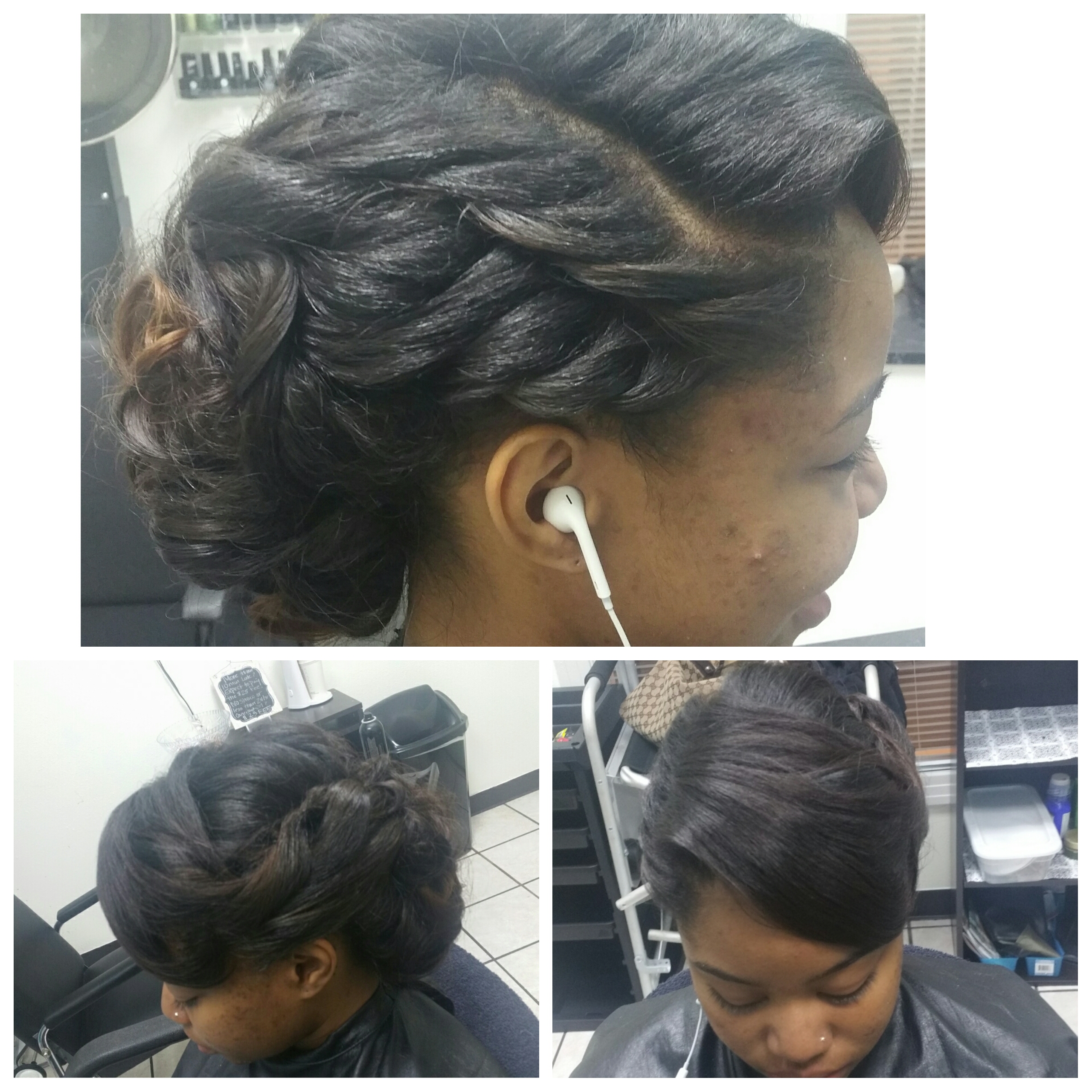 Braidless Sew-In w/ Updo