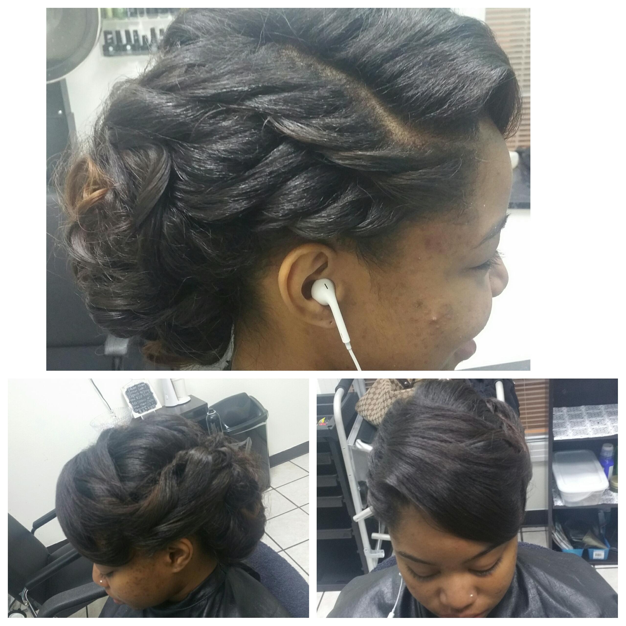 Braidless Sew-In w/ Updo