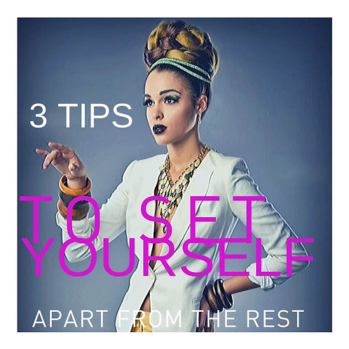 3 Tips to Set Yourself A Part
