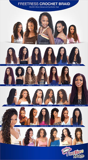 Fretress Crochet Braid Chart