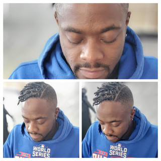 start locs mohawk section