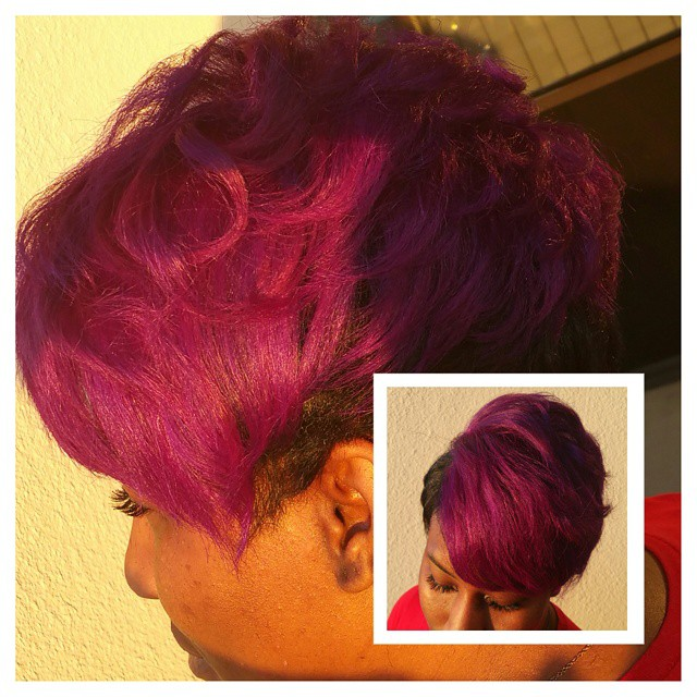 Instagram - Purple hair