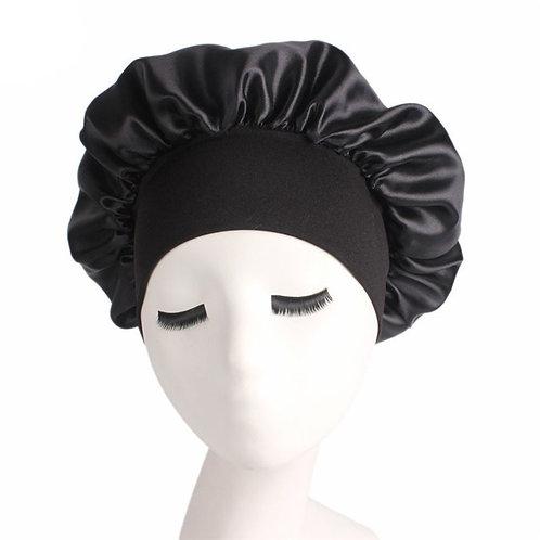 Women's Satin Wide-Brimmed Sleeping  Cap