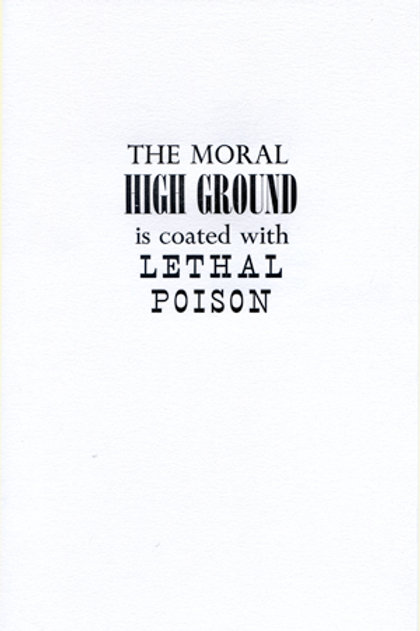 The Moral Highground