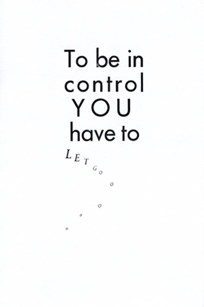 To be in control