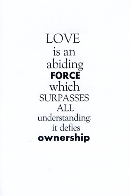 Love is an abiding force