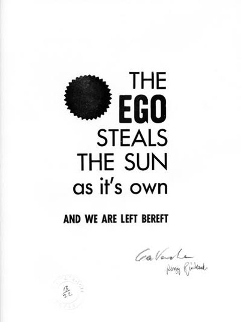 The Ego Steals the Sun